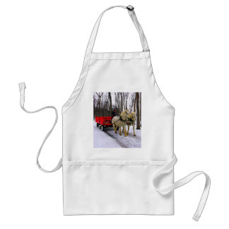 Sleigh Ride in the Snow Collection Adult Apron