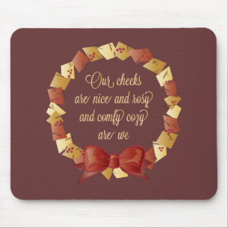 Sleigh Ride Lyrics Design Mouse Pad