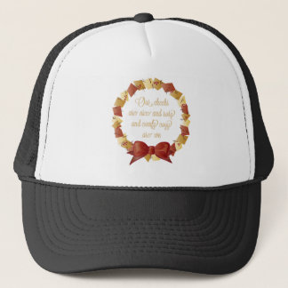 Sleigh Ride Lyrics Design Trucker Hat