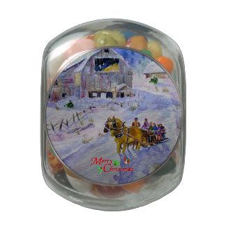 Sleigh-ride Merry Christmas Candy Tin