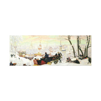 Sleigh Ride Painting Canvas Print