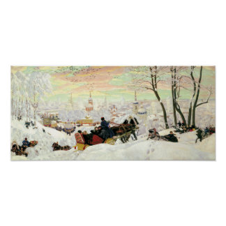 Sleigh Ride Painting Poster