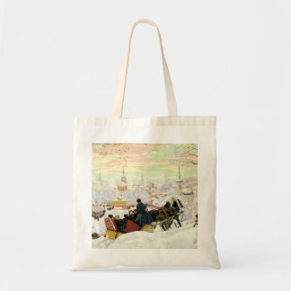 Sleigh Ride Painting Tote Bag