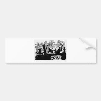Sleigh_Ride_Silhouette Bumper Sticker