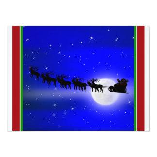 Sleigh Ride Silhouette Card