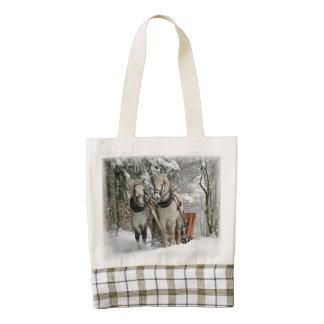 Sleigh Ride Zazzle HEART Tote Bag