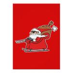 Sleigh Riding Santa Claus 5x7 Paper Invitation Card
