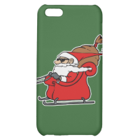 Sleigh Riding Santa Claus iPhone 5C Cover