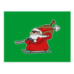Sleigh Riding Santa Claus Postcard