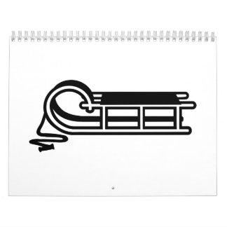 Sleigh sled calendar