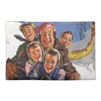 Sleigh Snow Fun Christmas Travel Accessories Bag