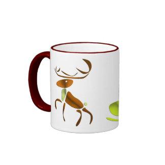 Sleigh thrown by Reno eXi Christmas Ringer Coffee Mug