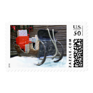 Sleigh with Christmas gifts Postage