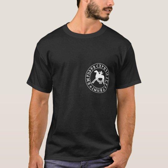 Sleipnir Shield on Blk T-Shirt