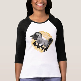 Sleipnir, the 8-Legged Horse Raglan Shirt