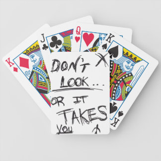 Slender: Dont Look Black on White Bicycle Playing Cards