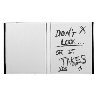 Slender: Dont Look Black on White iPad Cases
