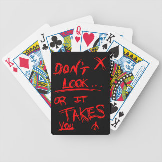 Slender: Dont Look Red on Black Bicycle Playing Cards