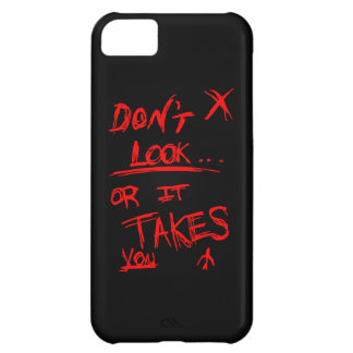 Slender: Dont Look Red on Black iPhone 5C Covers