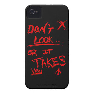 Slender: Dont Look Red on Black iPhone 4 Cover