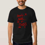 Slender: Dont Look Red on Black Tee Shirt