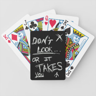 Slender: Dont Look White on Black Bicycle Playing Cards