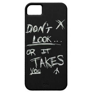 Slender: Dont Look White on Black iPhone 5 Cover