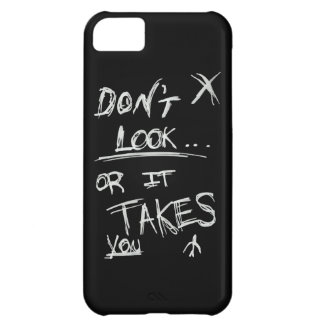 Slender: Dont Look White on Black Case For iPhone 5C