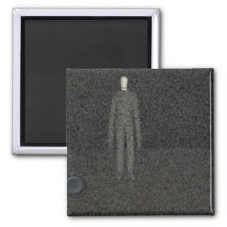 Slender Man 2 Inch Square Magnet