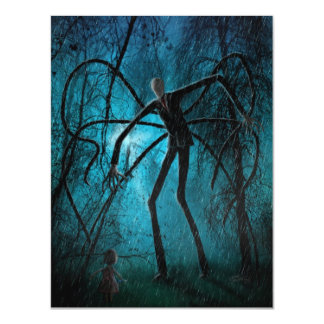Slender Man and the Lost Soul Magnetic Invitations