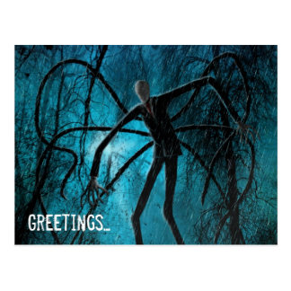 Slender Man and the Lost Soul Postcard