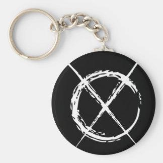 Slender Man Basic Round Button Keychain