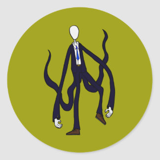 Slender Man - Book of Monsters Halloween Classic Round Sticker
