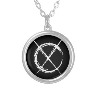 Slender Man Silver Plated Necklace