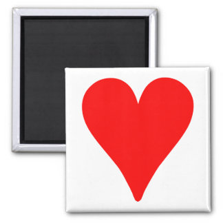 Slender Red Heart 2 Inch Square Magnet