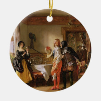 Slender, with the assistance of Shallow, Courting Double-Sided Ceramic Round Christmas Ornament