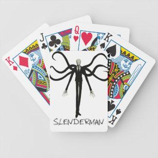 Slenderman Bicycle Playing Cards
