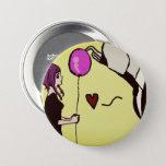 Slenderman Love Cute Pinback Button