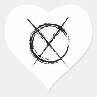 Slenderman Pegatina En Forma De Corazón