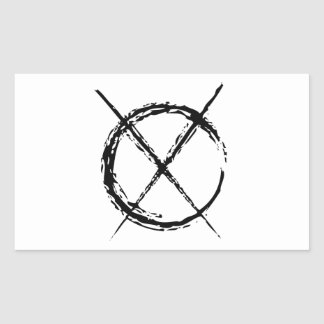 Slenderman Rectangular Sticker