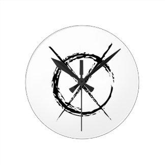 Slenderman Round Clock