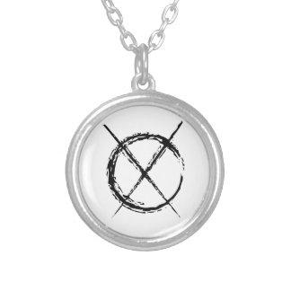 Slenderman Round Pendant Necklace