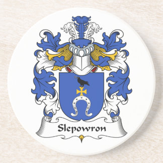 Slepowron Family Crest Drink Coaster