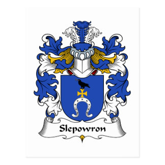 Slepowron Family Crest Postcard