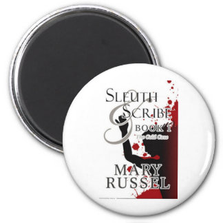 Sleuth & Scribe book 1 the cold case 2 Inch Round Magnet
