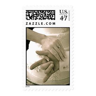 SLG-ILY Wedding hands Postage Stamp