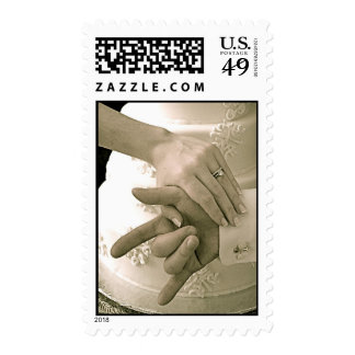 SLG-ILY Wedding hands Postage Stamp