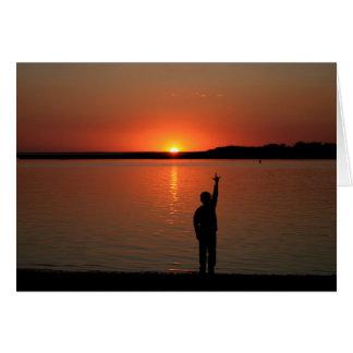 SLG  Sunset  card