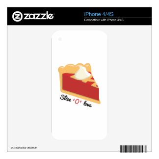 Slice O Love Skin For iPhone 4S