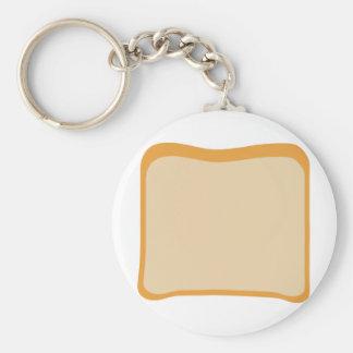slice of bread icon basic round button keychain